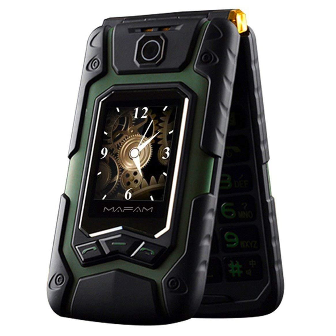Delicacydex Wasserdichtes Elder Man Cellphone FM-Radio Dual-SIM-GSM-Standby-Box für große Lautsprecher - Grün