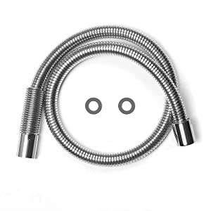 "MSTJRY 38"" Flexible Stainless Steel Hose Replacement Kit for All Brand Commercial Pre-Rinse Kitchen Faucet (Long Type)"