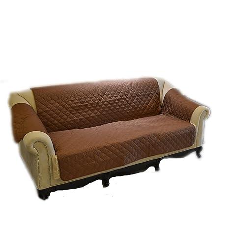 UEETEK Protector funda para sofá impermeable sofá cubierta para gato perro (café)