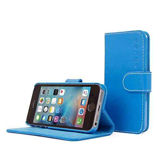 3 opinioni per Cover iPhone SE, Snugg Apple iPhone SE Flip Custodia Case [Slot Per Schede]