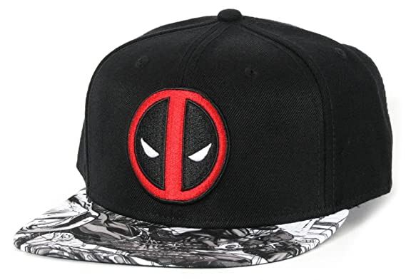 b8141cfbd9c06d Image Unavailable. Image not available for. Colour: Marvel Men's Deadpool  Snapback Ball Cap