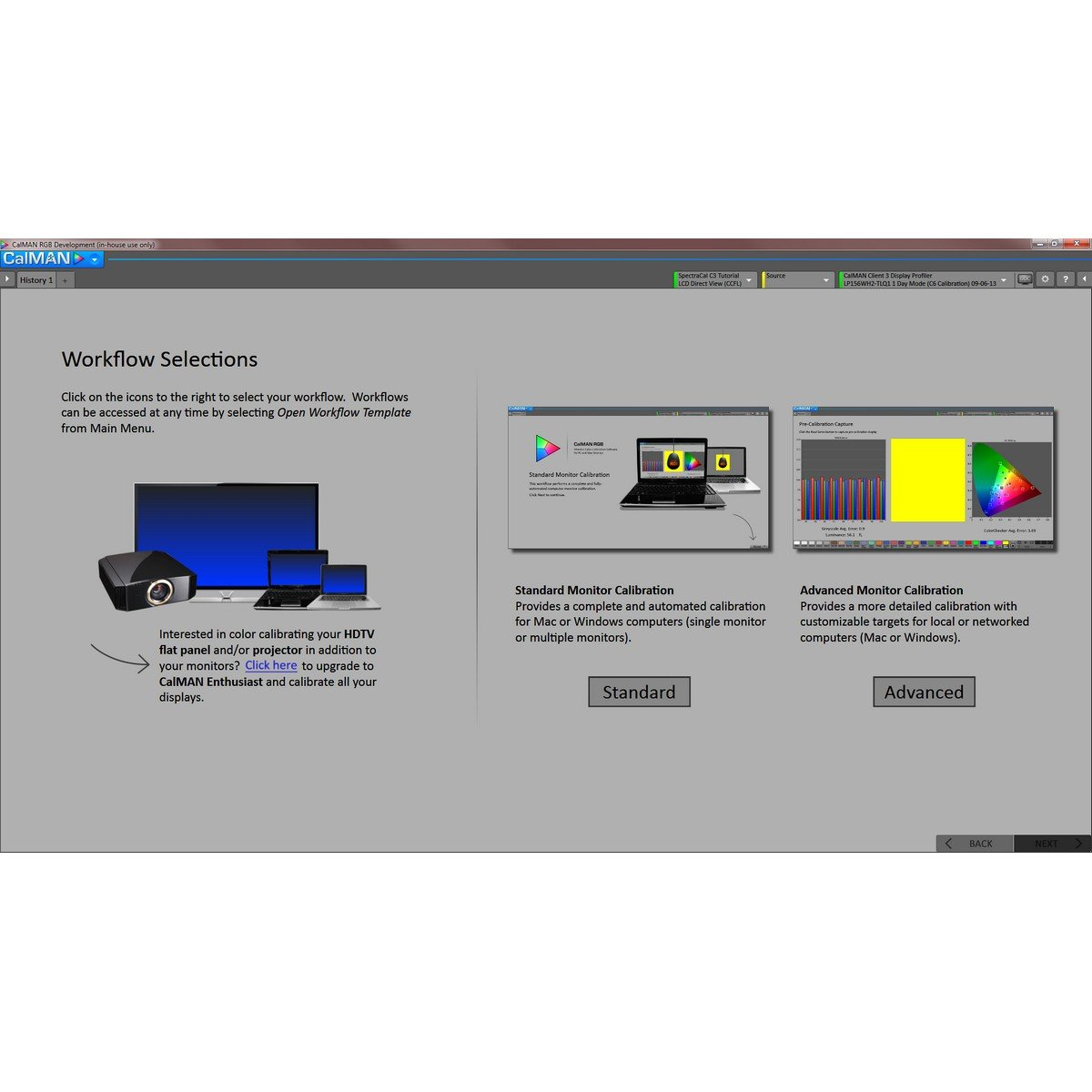 SpectraCal CalMAN RGB Software Only | Photography Web