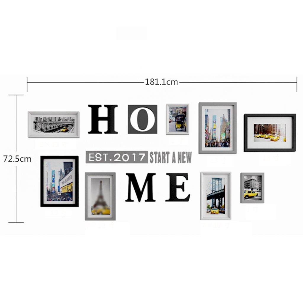 Kreative Bilderrahmen Collage große Größe Wohnzimmer Massivholz ...