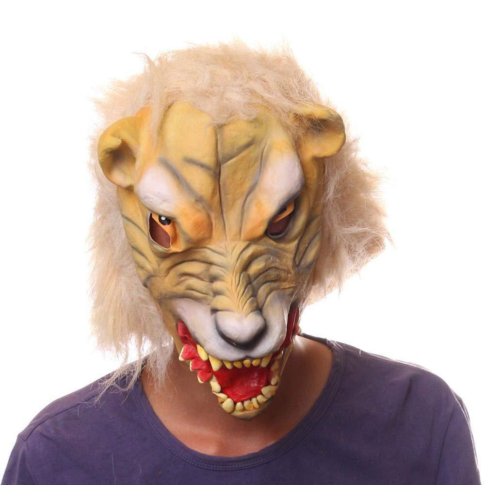 Circlefly Lattice di Halloween leopardo testa maschera carnevale notte ballo in Costume animale maschera adulti parrucca
