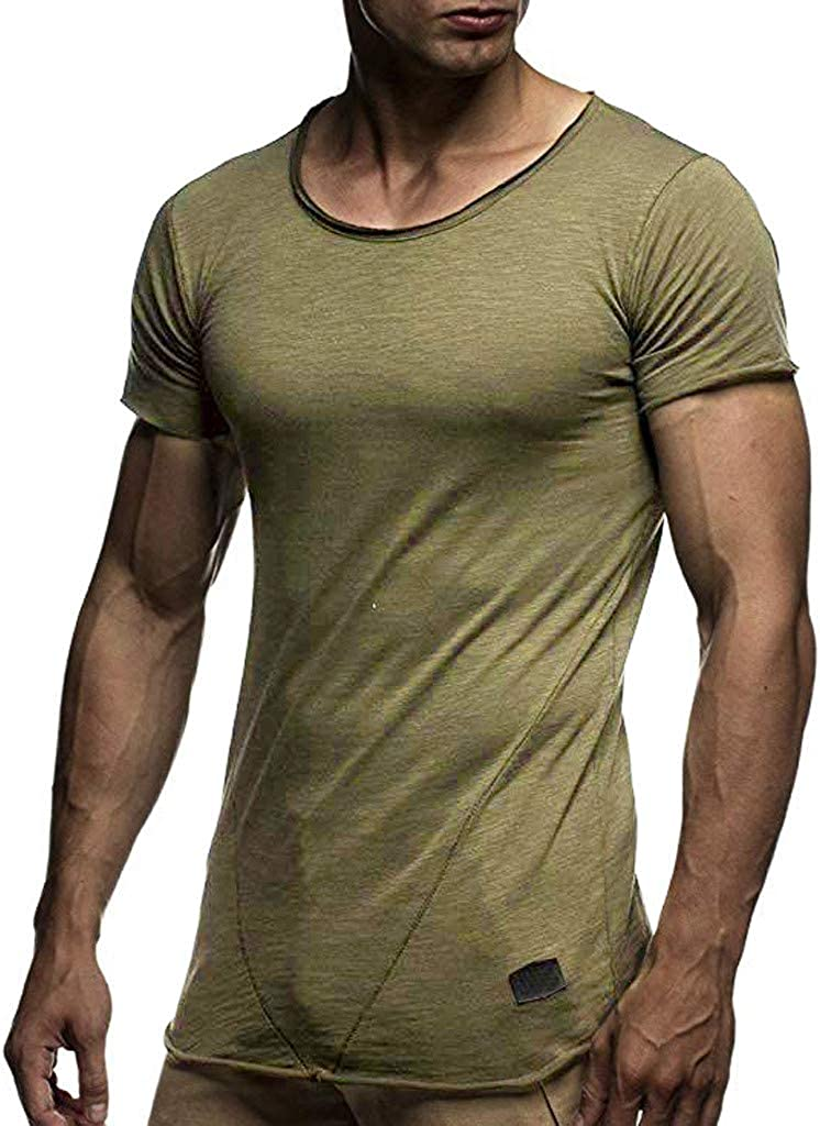 STORTO Mens Basic Hipster T Shirts Soft Casual Tee Shirts Short Sleeve Sports Fit Tops
