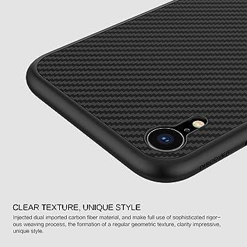 Nillkin Coque iPhone XR, [Fibre de Carbone] Fibre Synthétique Premium Bumper Coque Arrière pour iPhone XR 6.1