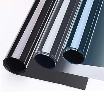 75x300cm verspiegelte Folie Sonnenschutz selbstklebend für Fenster,  Fensterfolie, Sichtschutz und Hitzeschutz Sichtschutzfolie, Spiegelfolie ...