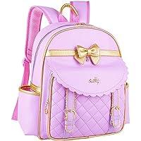 Remeehi Girls School Bag Lolita Style Pu Backpack Small Purple