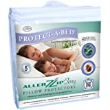 Protect A Bed Allerzip Terry Water/Bedbug Proof Pillow Case 2 Pack King - BOM0180