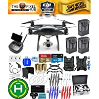 DJI Phantom 4 Pro+ Black Obsidian Edition Drone Pro Bundle With Aluminum Case, Vest Strap, Extra Props, Filter Kit Plus Much More (3 Batteries)