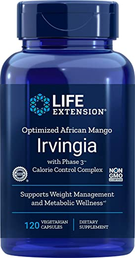 Life Extension Optimized Irvingia with Phase 3 Calorie Control, 120 Vegetarian Capsules