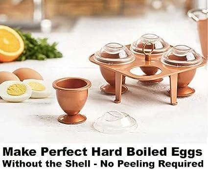 Huevos de cobre para cocinero sin pelar huevos duros y ...