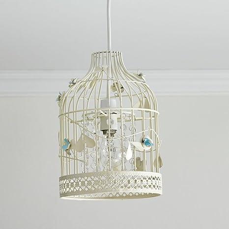 Pantalla para lámpara de techo, diseño vintage con jaula de ...