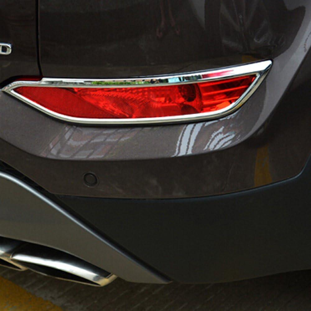 Auto Rear Fog Light Lamp Cover Trim Bezels ABS Chrome 2PCS//SET