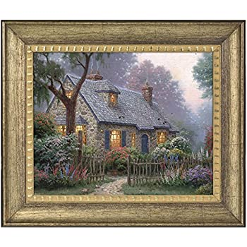 f28ff855efe Thomas Kinkade Foxglove Cottage 16 x 20 Brushstroke Vignette (Burnished  Gold)