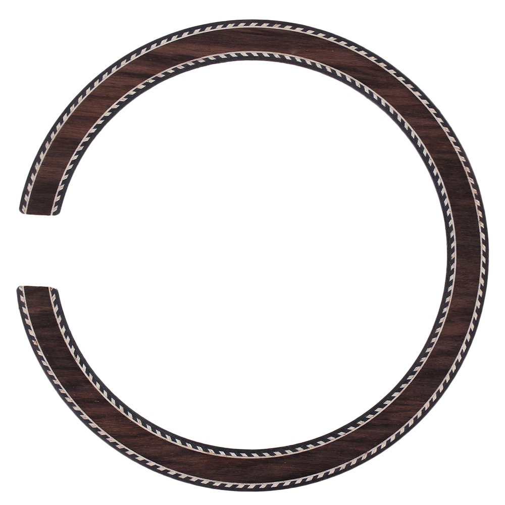 BQLZR B-77 Wood Color Acoustic Guitar Rosewood Rosette Soundhole Wood Inlaid Rosette for Classical Guitar N20036