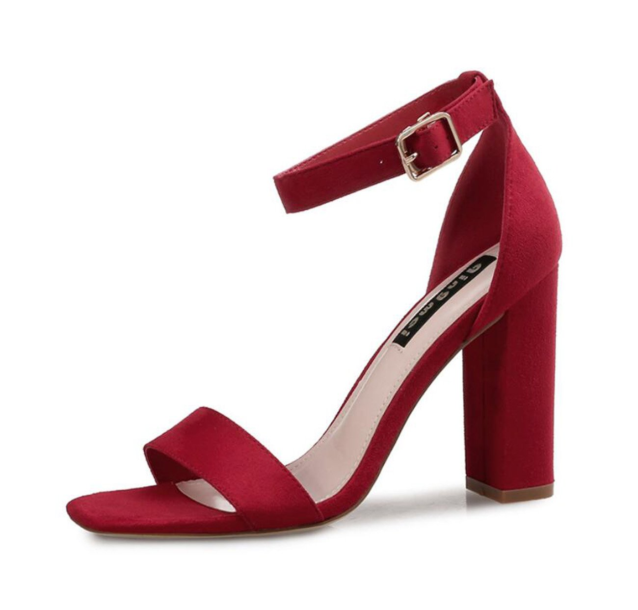 ZXMXY Damen Damen Block High Heels Sandalen Knöchelriemen Peep Toe Strappy Sandalen Schuhe Pumps Party Größe Sandalen im Freien