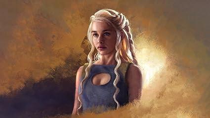 Game Of Thrones Daenerys Targaryen Painting Art Blonde Girl Fan ART Movies Girls PhotoFanart Wallpaper Image