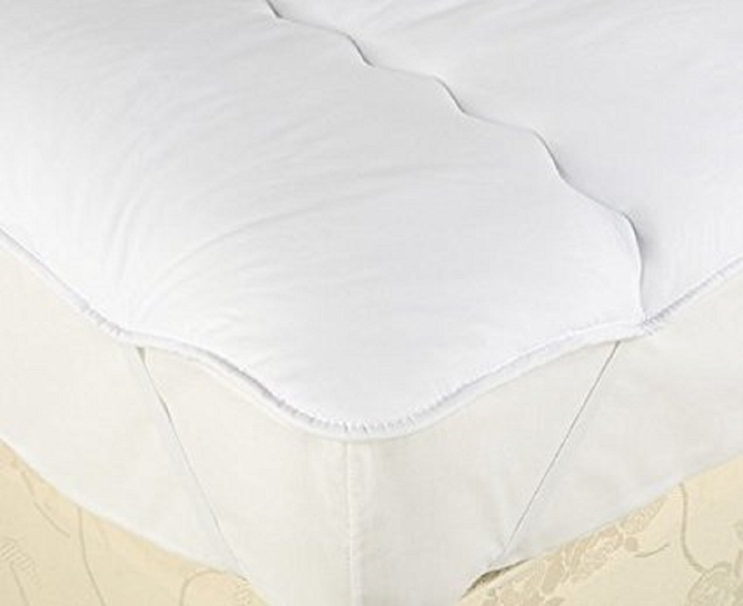 HOTEL QUALITY MICROFIBRE MATTRESS TOPPERS DOUBLE BED ANTI ALLERGENIC & MACHINE WASHABLE (Double) Hometextile