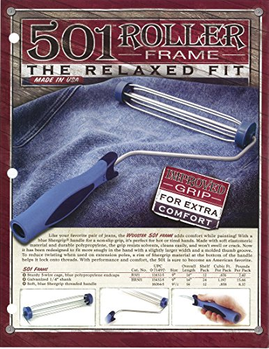 Wooster Brush R501-9 501 Soft Grip Roller Frame, 9-Inch