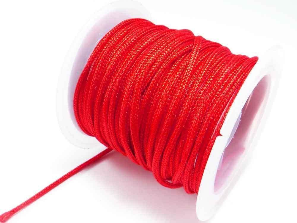 Generic INWARIA (0, 30€/m) 5 m Flechtkordel Ø 1, 5 mm Satinkordel Band Schnur Perlenschnur, SK-6, Rot