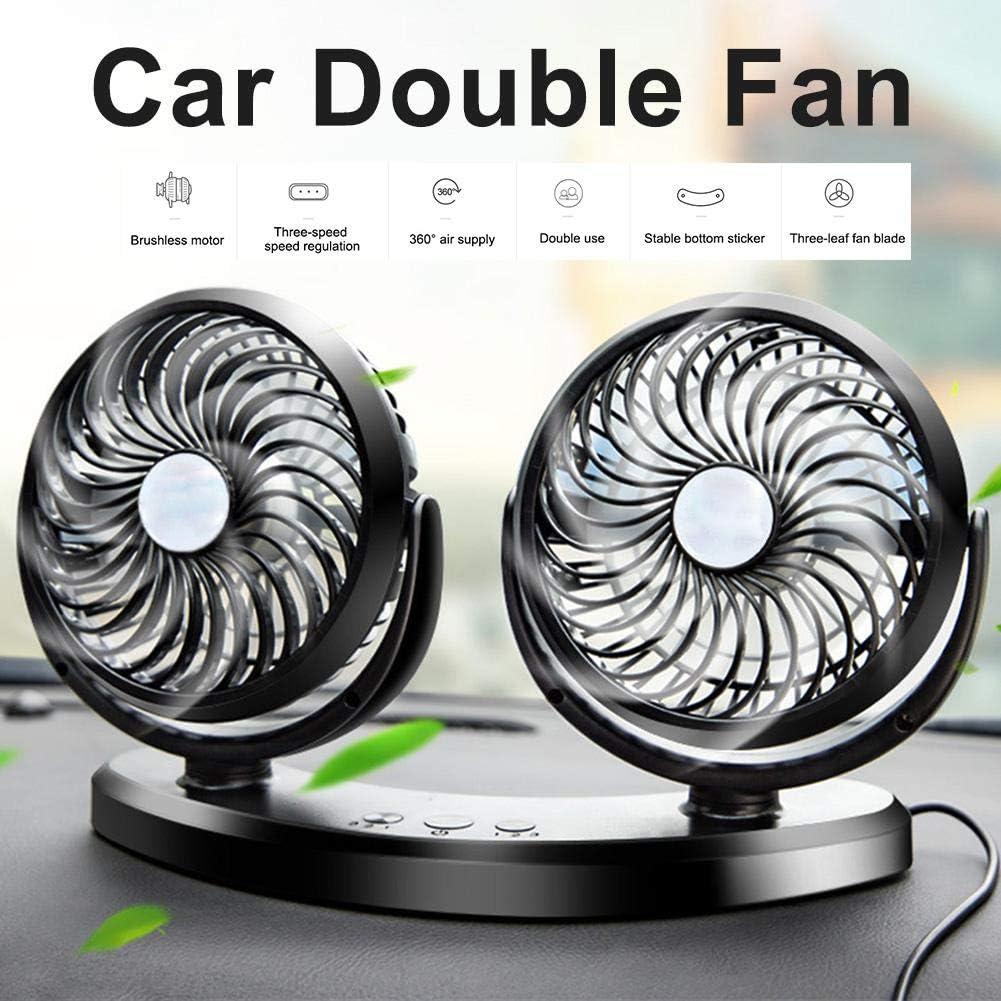 Speed Wind Perfect Personal Cooling Fan for Home Office Table Car Electric Fan Universal 5V USB Interface Prom-near Desk Fan Universal USB Fan Double Head Three