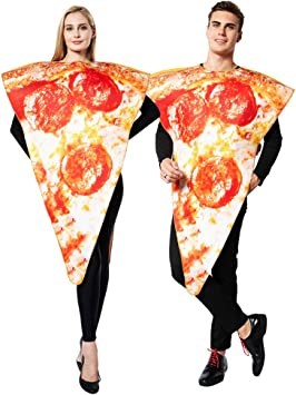 EraSpooky Disfraz de Pizza de Comida Unisex Disfraces Fiesta de ...