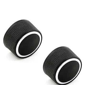 Boomboost Aluminiumlegierung Audio Radio Auto Klimaanlage Switch Knopf Schaltknopf Bet/ätigen AC Knopf Auto 2Stk//Set Schwarz