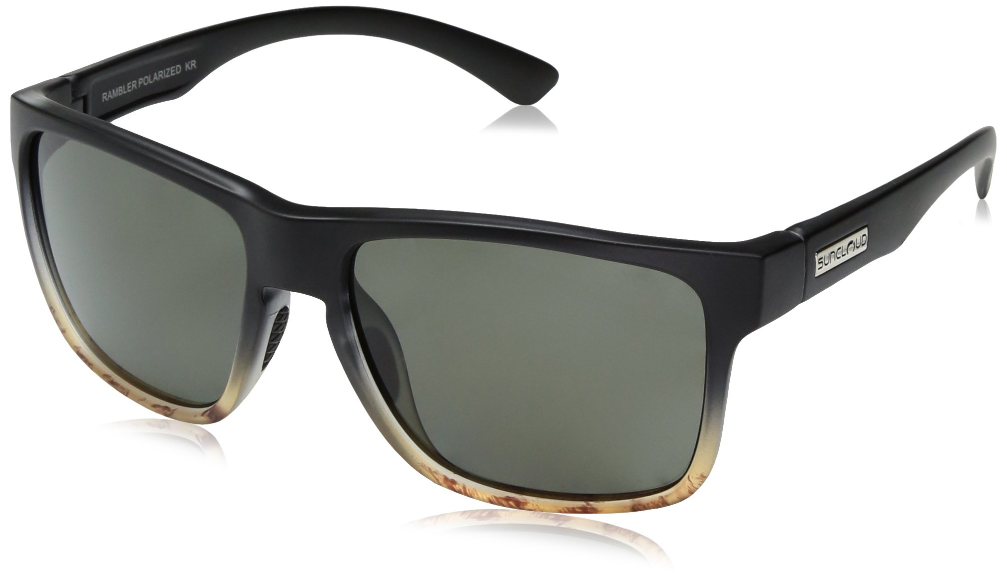Suncloud Rambler Sunglasses, Black Tortoise Fade Frame/Gray Polycarbonate Lens, One Size