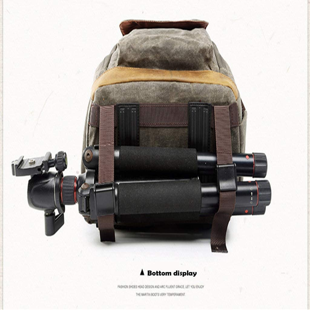 Clearance Sale Photography Backpack,Camera Backpack Canvas Bag Camera Bag with Rain Cover Mirrorless Camera Video Camcorder Bags DSLR Backpack Waterproof Khaki