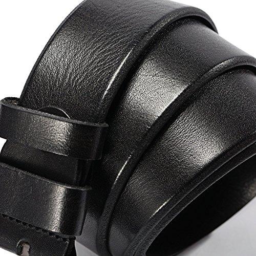 Uomo 100Pelle Business Abiti Cintura marrone Hzhy Type 5 Fibbia Per CasualVestiti Ad TuteIn VeraCon ArdiglioneAccorciabileNera Da E KJ1lFc