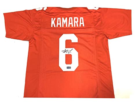 new style 88290 ed578 Alvin Kamara Autographed Jersey - Orange Custom ...