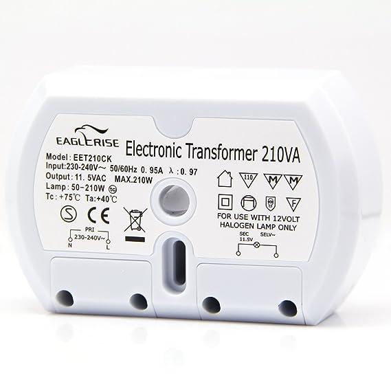 Eaglerise Elektronischer Halogen Trafo AC230V auf AC 12V 50W-210W ...