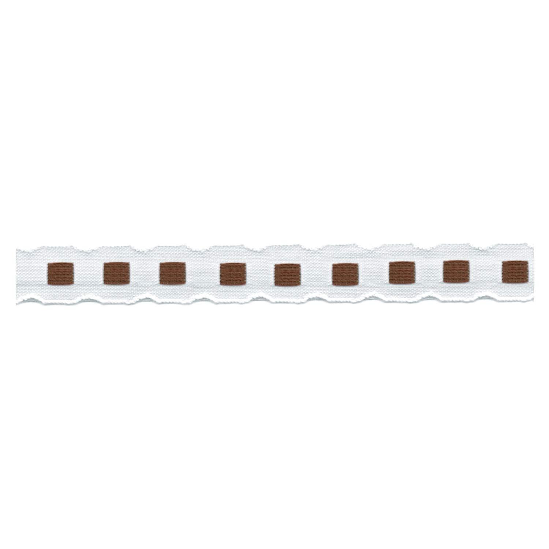S.I.C. チロルテープ 12mm C/#48 ホワイト×ブラウン 1反(30m) SIC-2001   B07NPQDHD3
