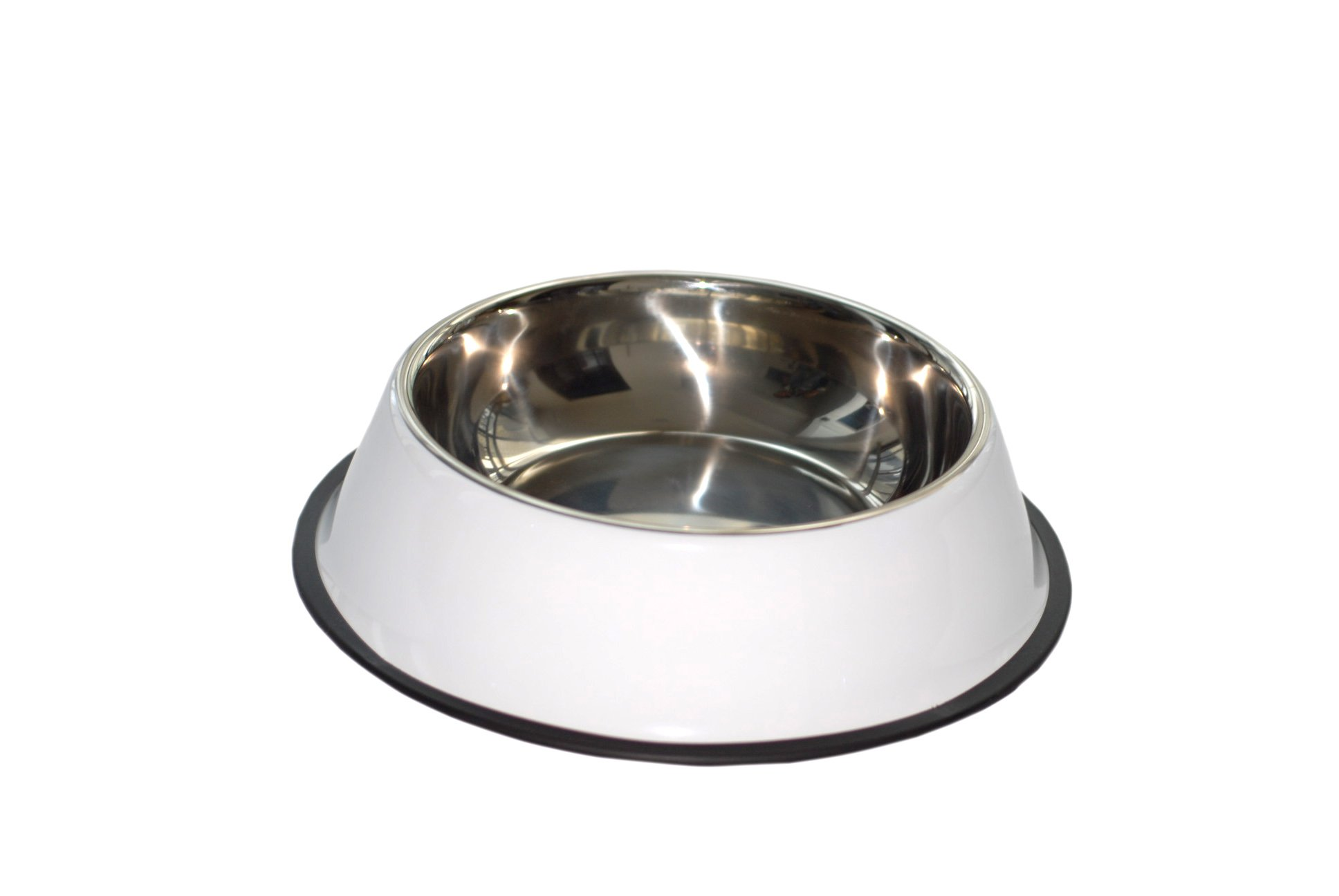 purrrfect life PL17004-A Dog Bowl 32 oz Stainless Steel with Rubber Base