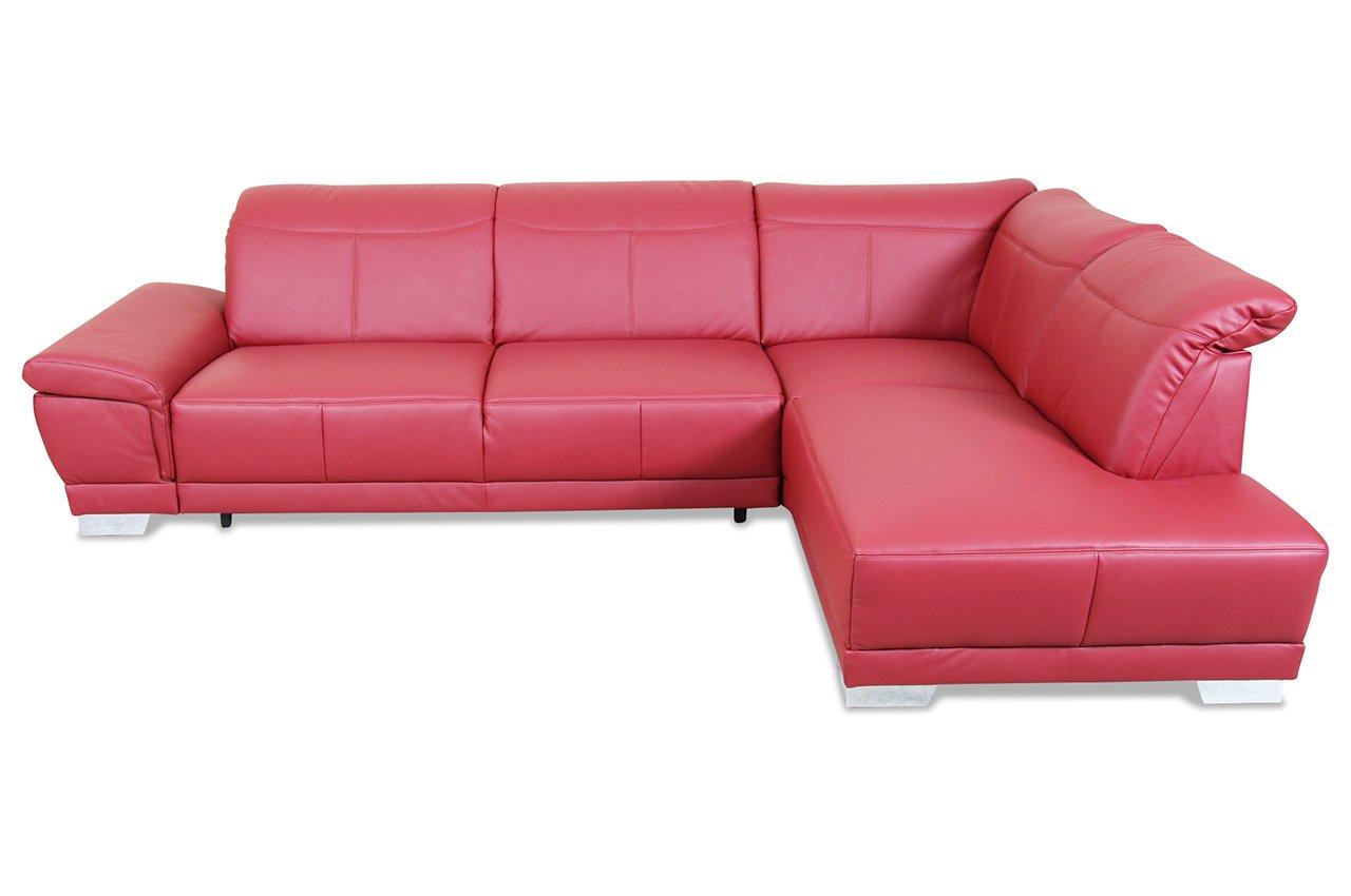 Sofa ADA Alina Megaecke 7624 - Echt-Leder Rot