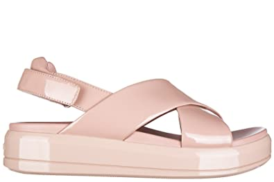 013dd8203c34 Prada Women s Leather Sandals Patent Leather Soft Pink UK Size 6 3X6291 OYG  F0615