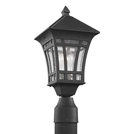 Amazon sea gull lighting 82131 12 herrington one light outdoor sea gull lighting 82131 12 herrington one light outdoor post lantern with clear seeded aloadofball Image collections