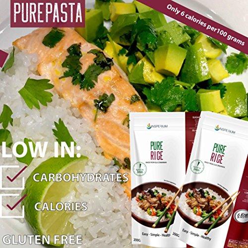 PureRice Arroz Konjac Sin Gluten 10 Pack 200 gramos | Vivir Sin Gluten Con Harina Gluten Free Con La Pasta Contra Intolerancia Gluten | Bajo En Calorias Y ...