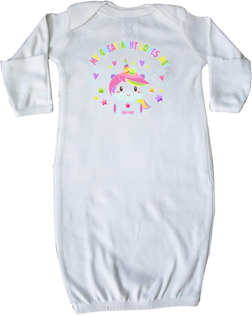 inktastic My Great Uncle Loves Me with Cute Rainbow Unicorn Baby T-Shirt