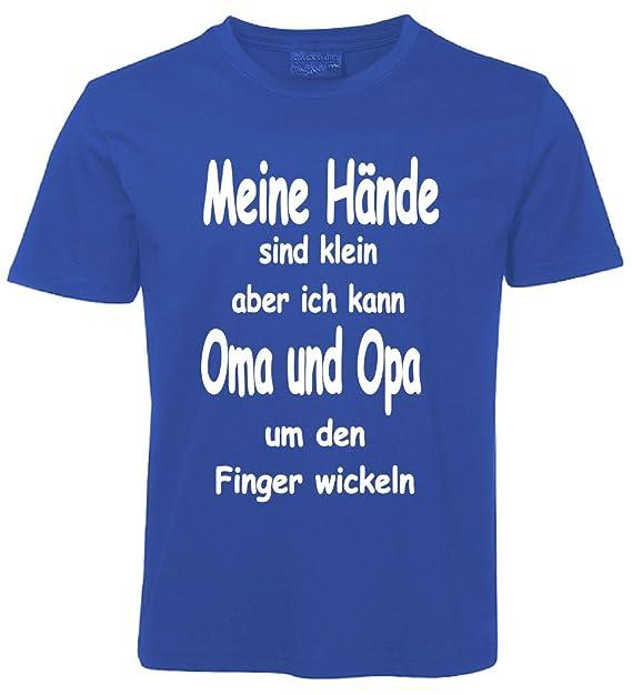 Kinder Sprüche T Shirt Oma Und Opa Blau Amazon De Bekleidung