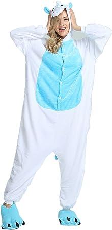KiKa Monkey Unisex Unicornio Adulto Ropa de Hombre Animal Pijamas Traje de Cosplay Pijamas de Navidad (ala Azul, XL)