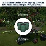 GloryTec 3-Pack Collapsible Garden Bag 45 Gallons