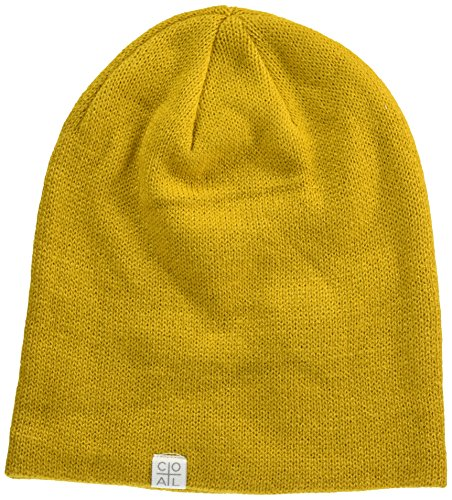 Coal Men's The Flt Fine Knit Beanie Hat, Mustard, One Size