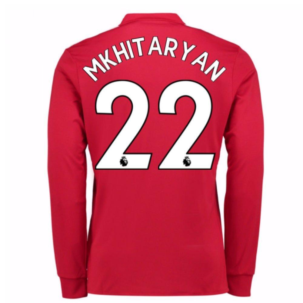 2017-2018 Man United Long Sleeve Home Football Soccer T-Shirt Trikot (Henrikh Mkhitaryan 22)