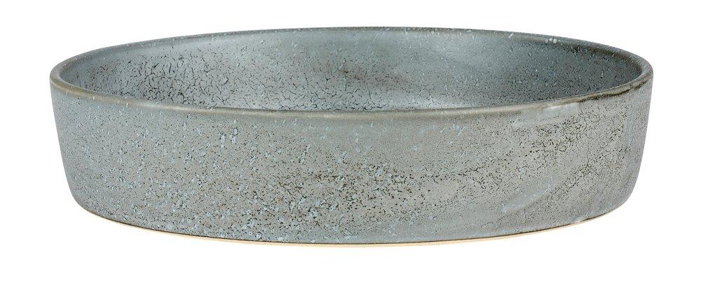 Bitz Steingut einfarbig Schale flach o. Ofenform Ø 28 cm