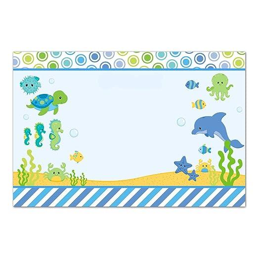 30 tarjetas de agradecimiento en blanco para acuario bajo el mar ...