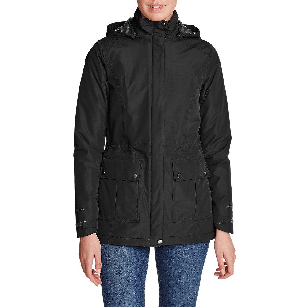 Eddie Bauer Women's Rainfoil Fleece-Lined Parka, Black Petite S