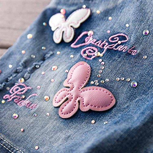 YAO Summer Little Girls Cotton Denim Bib Braces Rompers (4T) by YAO (Image #3)