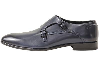 39e9222dfa6 Hugo Boss Men s Dressapp Dark Blue Double Monk Strap Loafers Shoes Sz  10